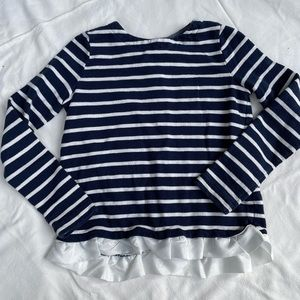 Crewcuts Navy striped long sleeve, size 8